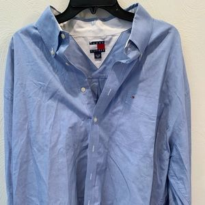 Tommy Hilfiger Long Sleeve Button Down Blue Color